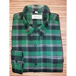 Košile tkaný flanel zelená nad.
