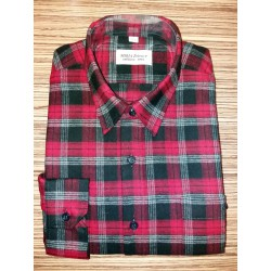 Košile tkaný flanel červená nad.
