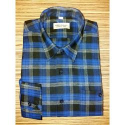 Košile tkaný flanel modrá nad.