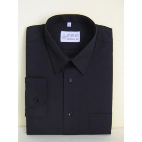 Košile černá, prodloužená, dlouhý rukáv