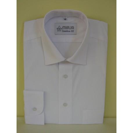Košile bílá, prodloužená, dlouhý rukáv
