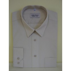 Košile Atlantis, prodloužená, nadměr, dlouhý rukáv, bílá